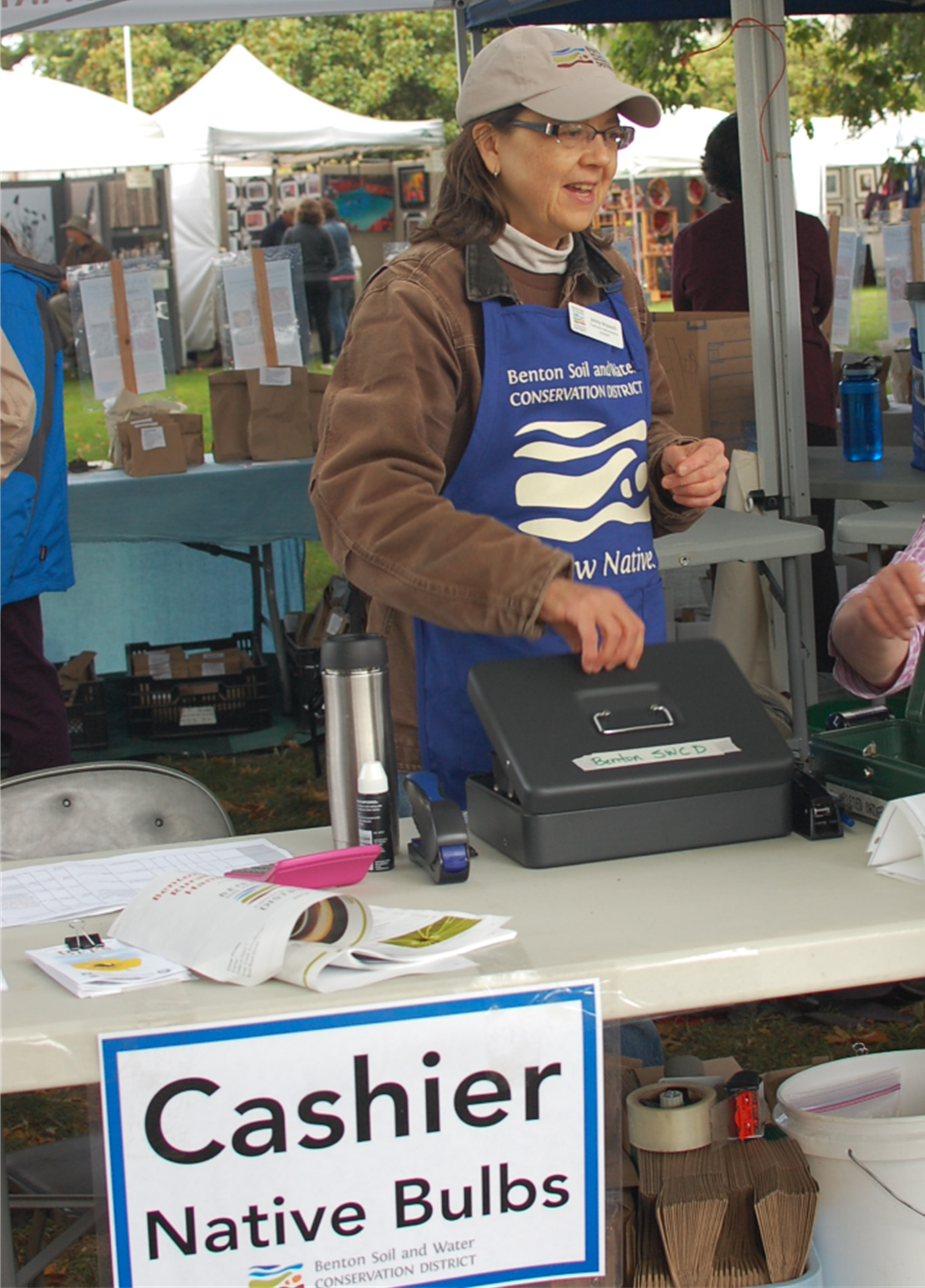 Jenny is BSWCD's head cashier at the Fall Bulb Sale and Winter Native Plant Sale.