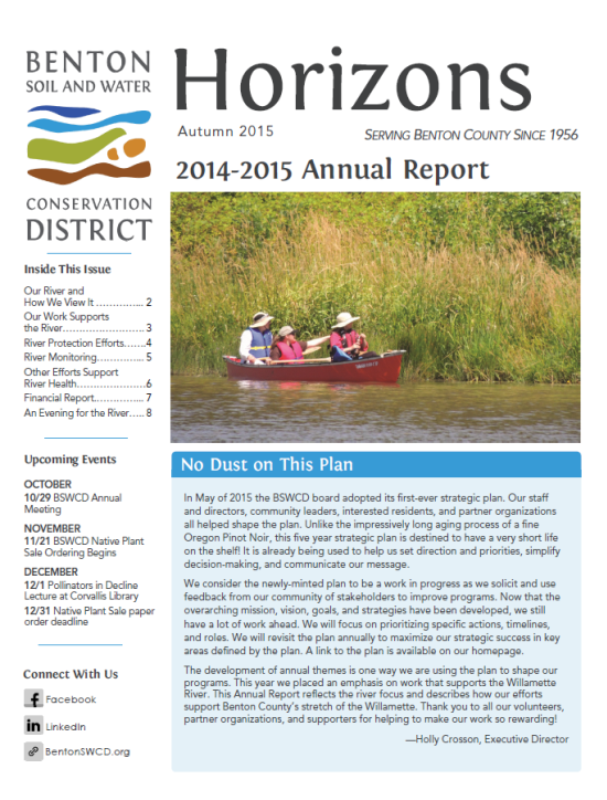 a cover of an annual report