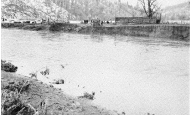 stream bank erosion caused by the 1965 flood.