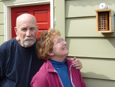 George and Patty Bolz with their installed nest box