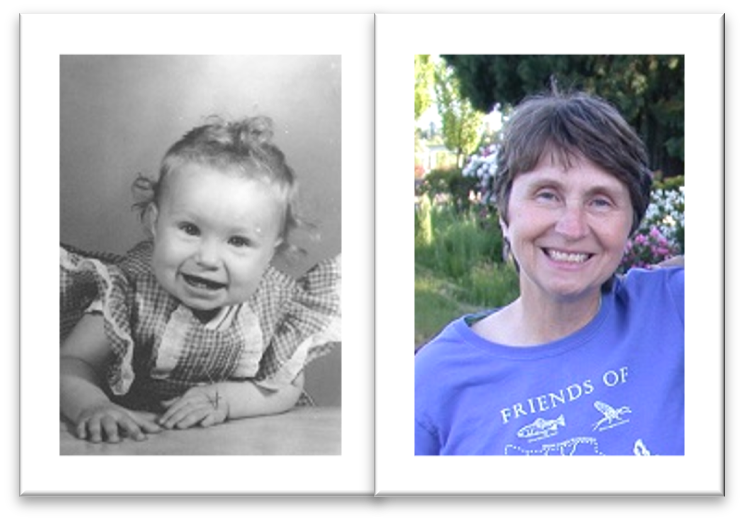 Teresa as a baby and an adult