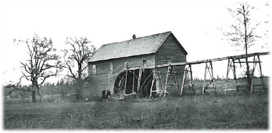 Horning Carding Mill on Oak Cree after 1869 Benton Co His. Museum, Harriet Moore Collection, 1985-061.0046