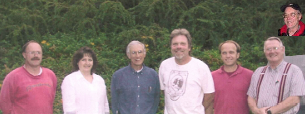 Pictured left to right: Eric Horning, Anne Rigor, Dr. Clifford Hall, Tim Dehne, Andy Gallagher, Tom Bedell, and Joe Hinds