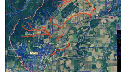 Map of Jackson Frazier Focus Area/Watershed